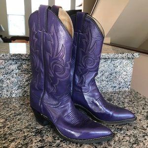 Purple Vintage Justin Cowboy Boots L4927 - 7B